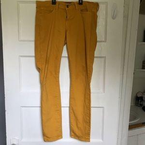 Lucky brand. Mustard skinny jeans.
